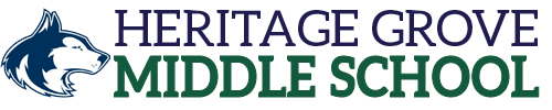 Heritage Grove Middle School logo centered