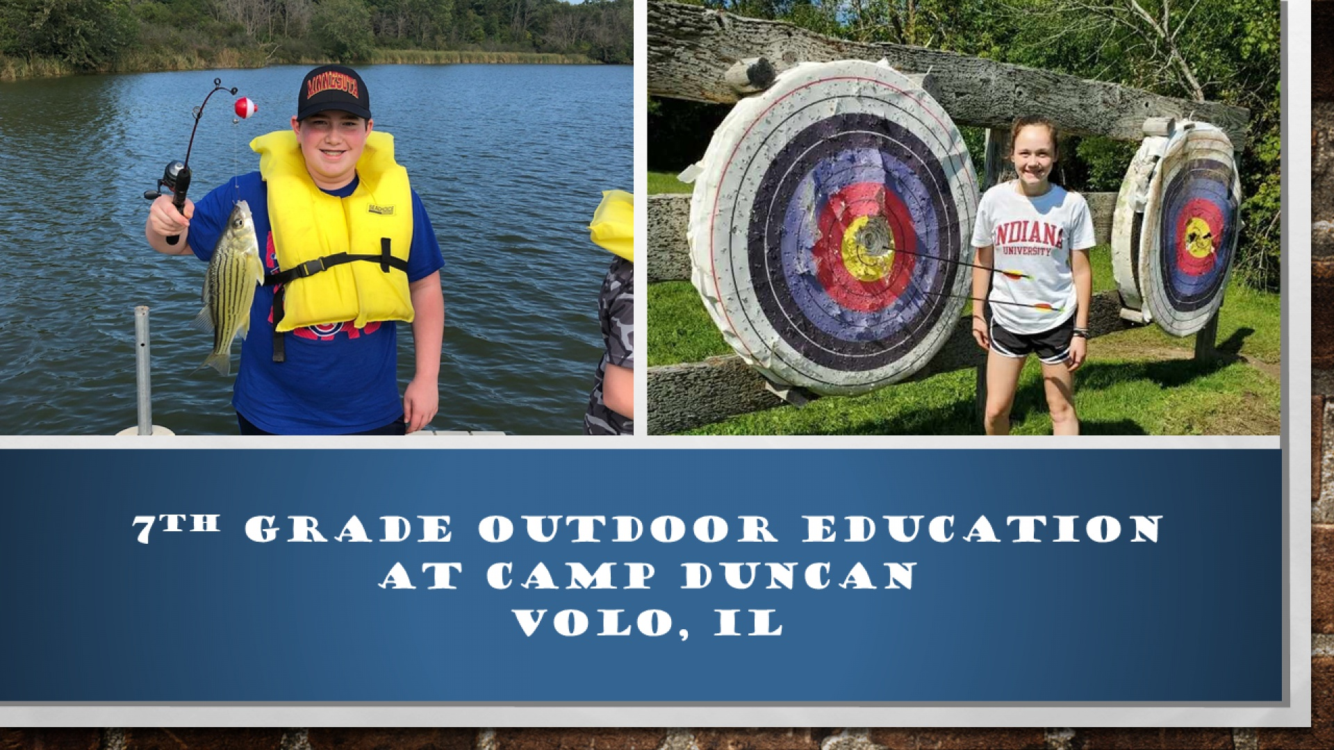 7th Grade Outdoor Education