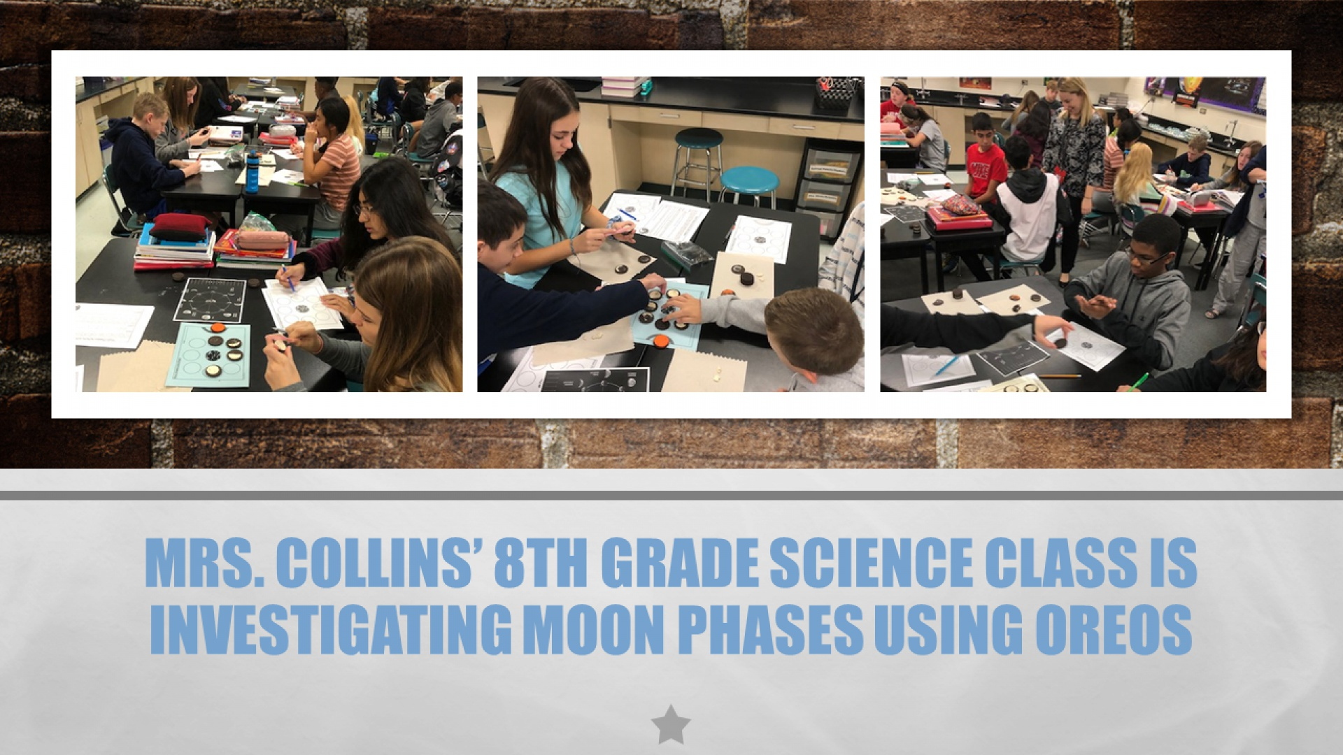 Mrs. Collins' 8th Grade Science Class