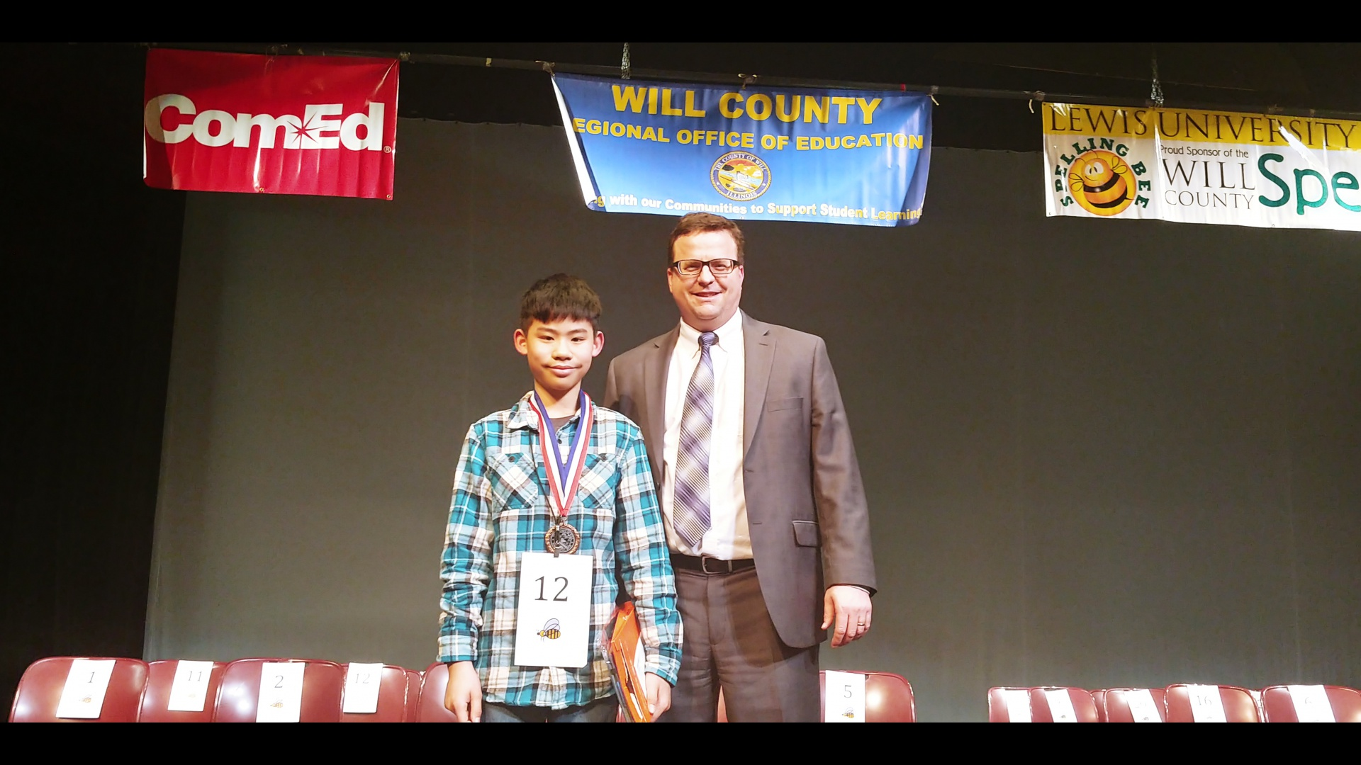 Congratulations, Noah! 3rd Place   Will County Spelling Bee